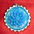 Glitters in Blue Bottlecap Pendant