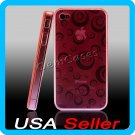 Pink Designer Silicone Bumper Case Cover iPhone 4 4G