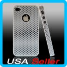 White Designer Hard Bumper Case Cover Skin iPhone 4 4G