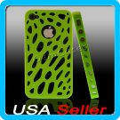 Green Designer Hard Bumper Case Cover Skin iPhone 4 4G