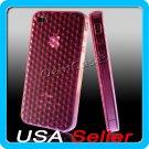 Pink Designer Silicone Bumper Case Cover iPhone 4 4G