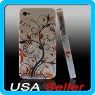 G4 Floral Designer Hard Case Cover for Apple iPhone 4 4G