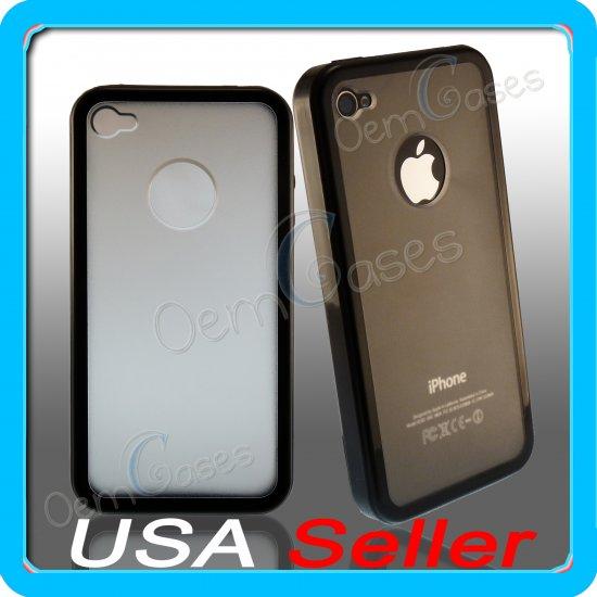 Black Designer Matte Bumper Frame Case Cover for iPhone 4 4G