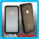Black Designer Matte Bumper Frame Case Cover for iPhone 4 4G