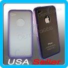 Purple Designer Matte Bumper Frame Case Cover for iPhone 4 4G