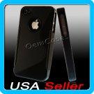 Black Designer Silicone Bumper Case Cover iPhone 4 4G