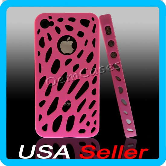 Pink Designer Hard Bumper Case Cover Skin iPhone 4 4G