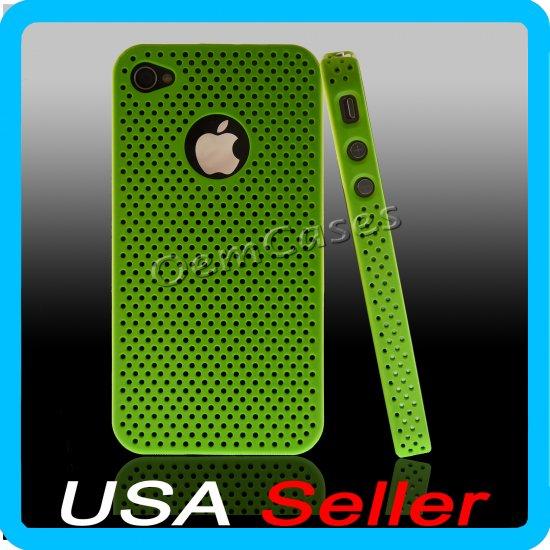 Green Designer Hard Bumper Case Cover Skin iPhone 4 4G