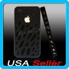 Black Designer Hard Bumper Case Cover Skin iPhone 4 4G