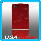 Red Designer Slider Case Cover for Apple iPhone 4 4G