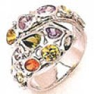 80gm Color Gems Stone Ring 14k W Gold