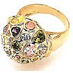 50gm Color Gems Stone Ring 14k W Gold