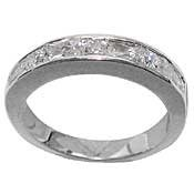 Cubic Zirconia Channel Set Ring