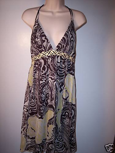 $340~NEW~LAUNDRY SHELLI SEGAL SILK DRESS HALTER 10