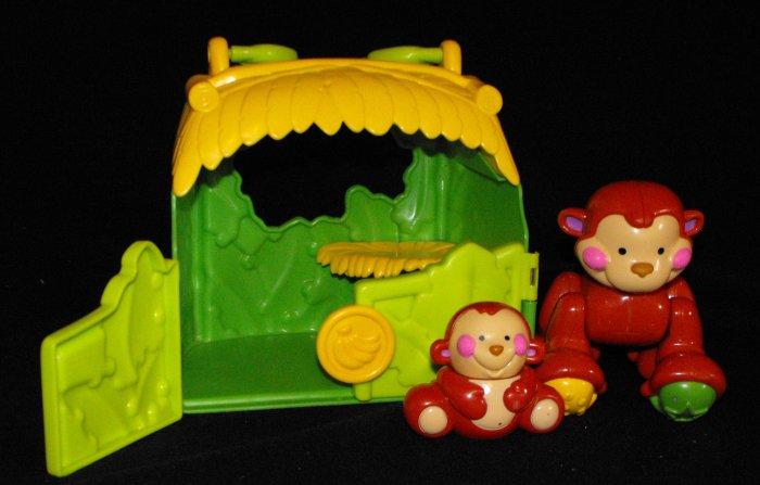Fisher Price Amazing Animals Monkey Friends Tote Hut
