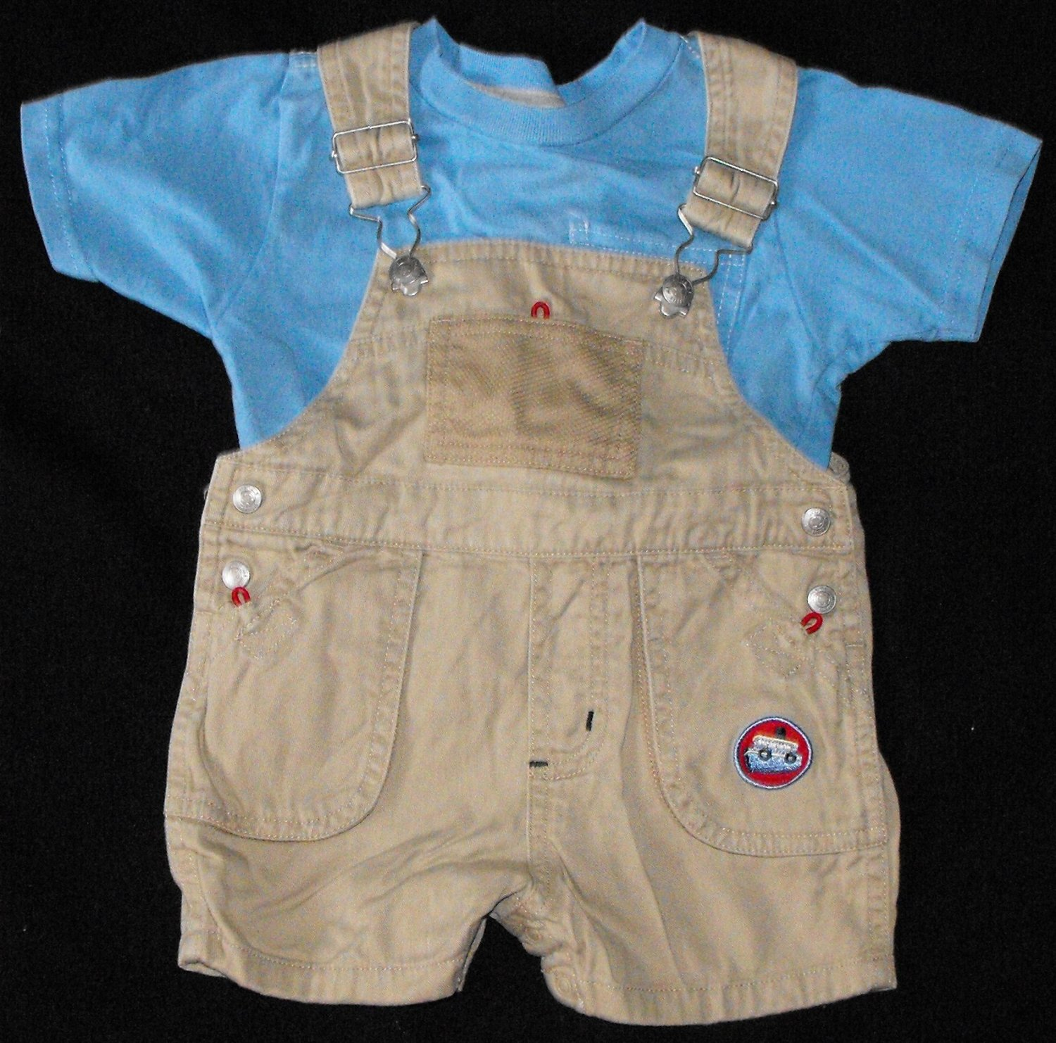 Baby Boys 12 month Little Me Shortalls Old Navy Shirt