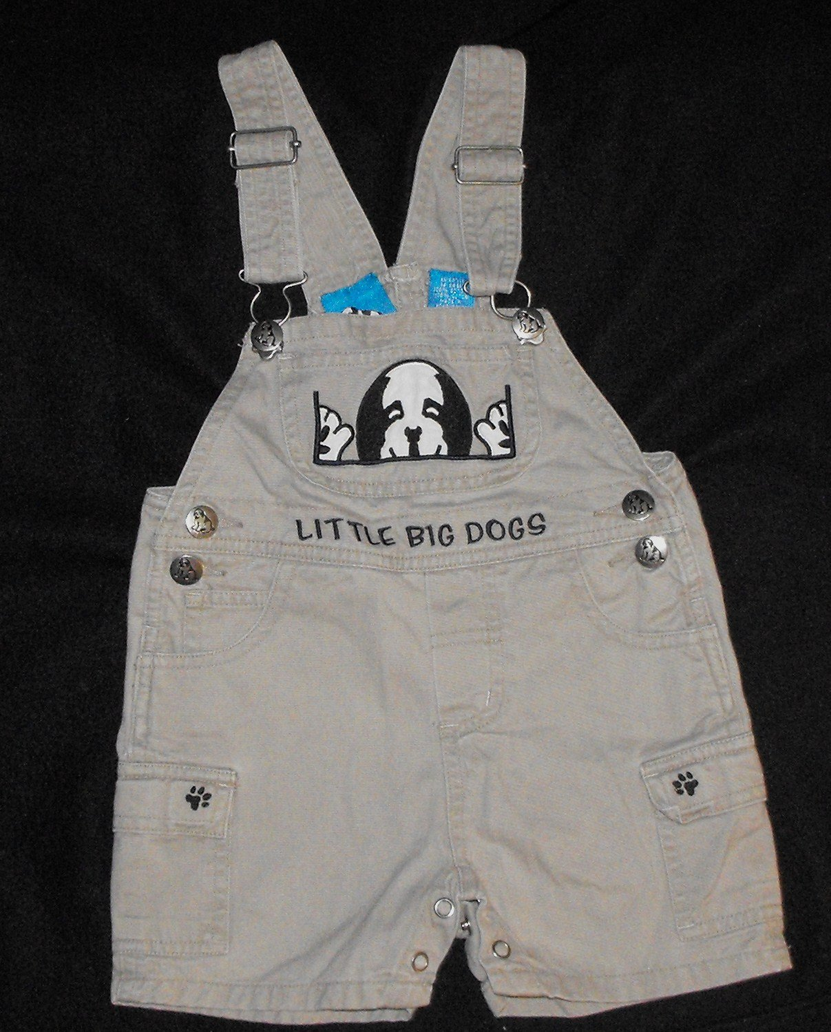 Baby Boys 12 month Big Dog Short Overalls