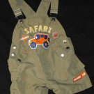 Baby Boys 12 month Safari Shorts Overalls