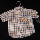 Avirex Baby Boy 12 Months Button Up Plaid Shirt