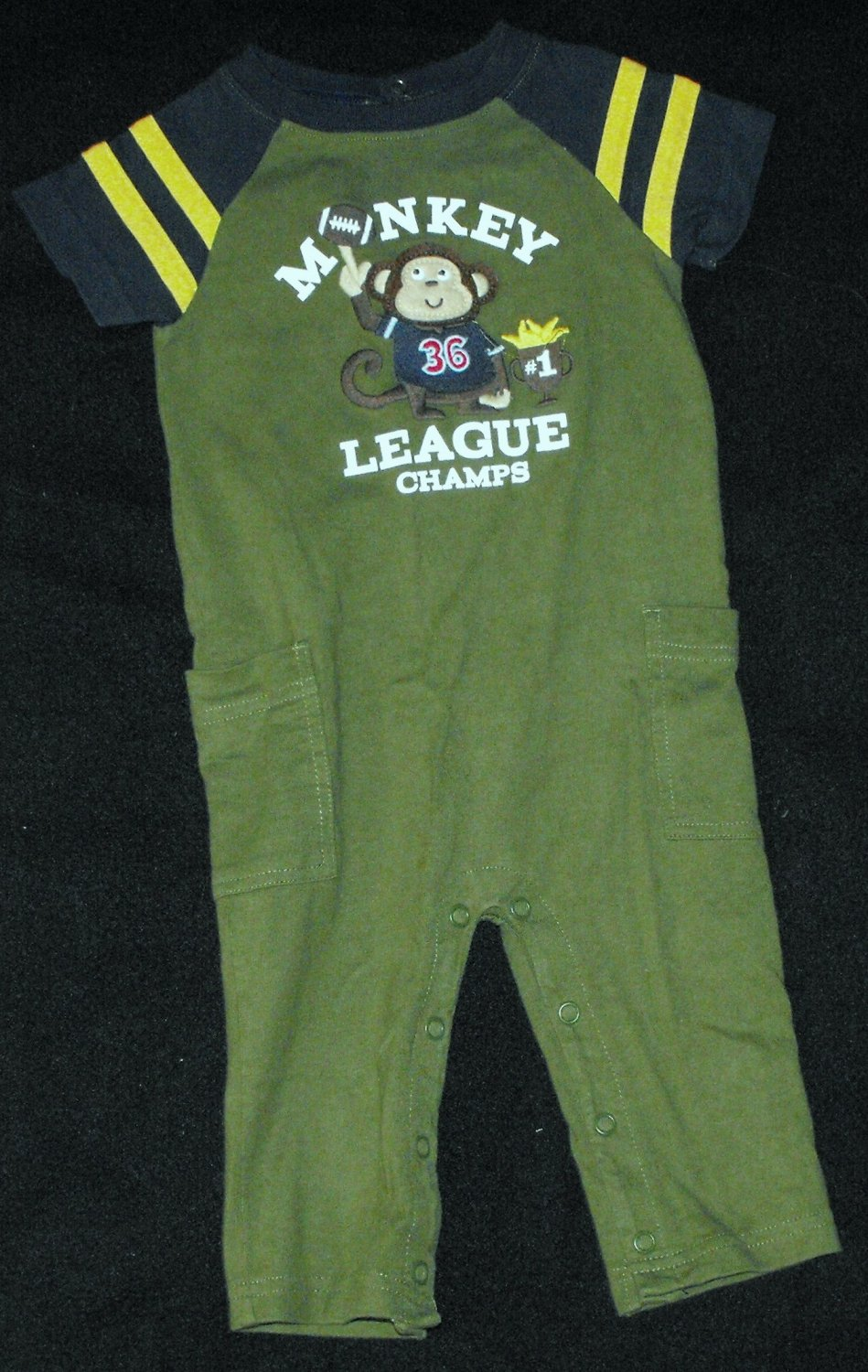 Carter's Baby Boys 12 Month One Piece Football Monkey Outfit