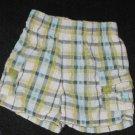 Baby Boys 12 month TKS Baby plaid  Elastic Waist Shorts