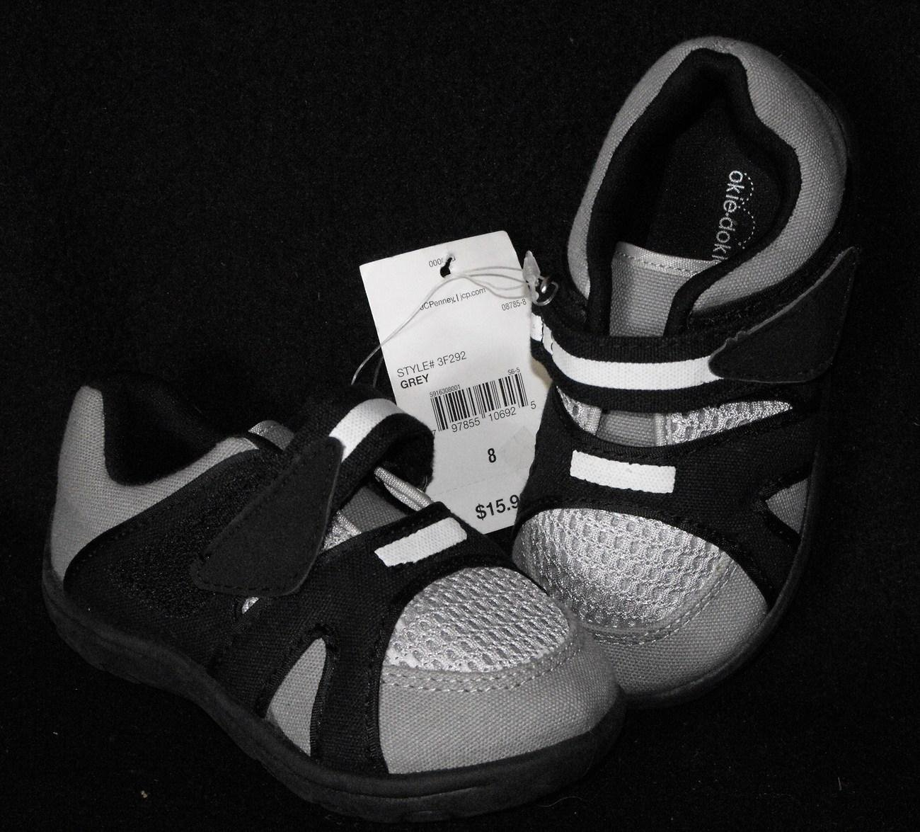 *1/14*SOLD~Okie-Dokie Baby Boys Size 8 Sneakers Shoes