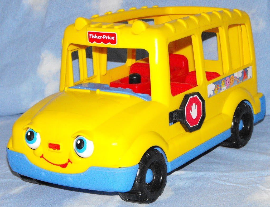2 15 sold fisher price little people 1998 school bus eyes move. Black Bedroom Furniture Sets. Home Design Ideas