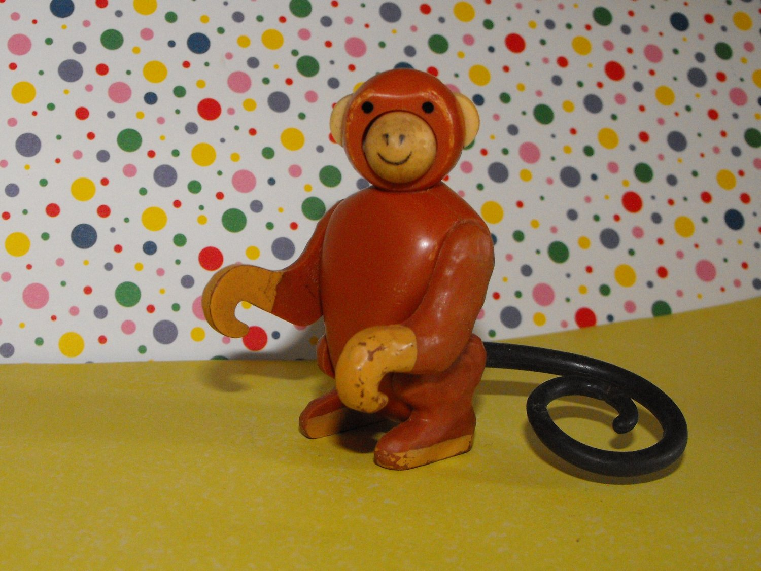 *SOLD*Vintage Fisher Price Little People Circus Zoo Train Monkey