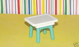 Fisher Price Loving Family Dollhouse Wicker Porch Livingroom Table