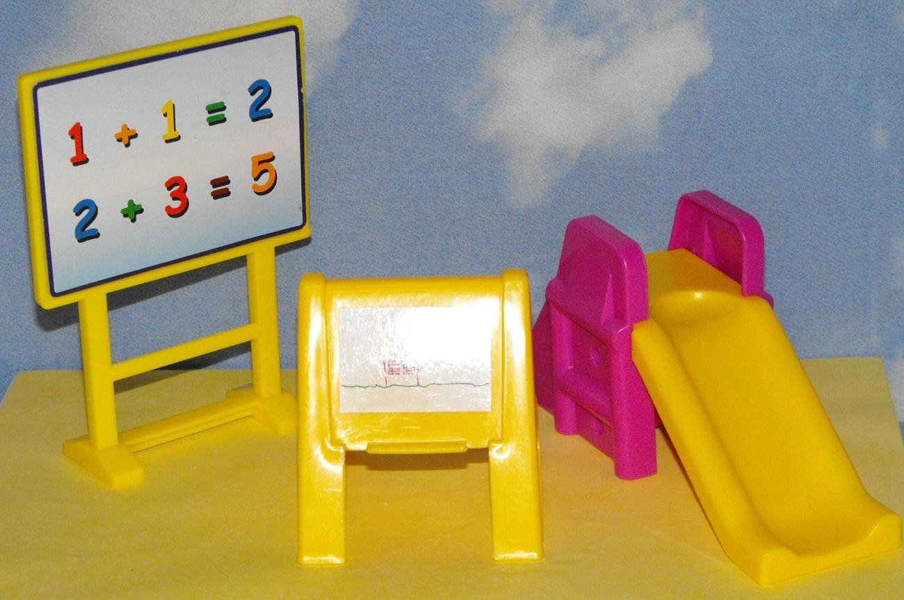 Barbie Kelly Sized Doll house Preschool Furniture Lot