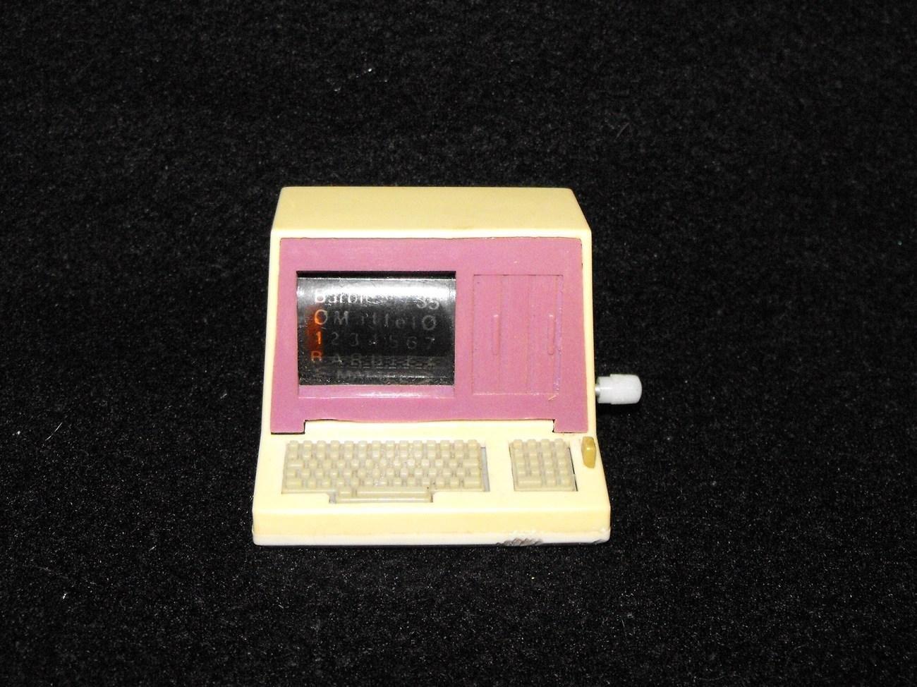 Vintage Barbie Action Accents Windup Computer Works