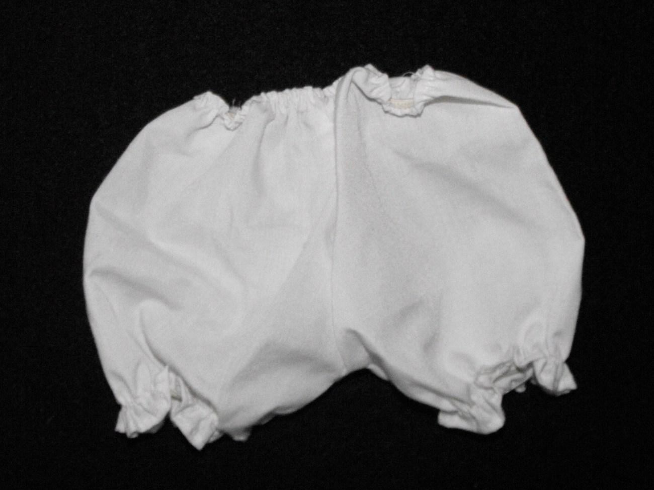 BITTY BABY? WHITE BLOOMERS BOTTOMS