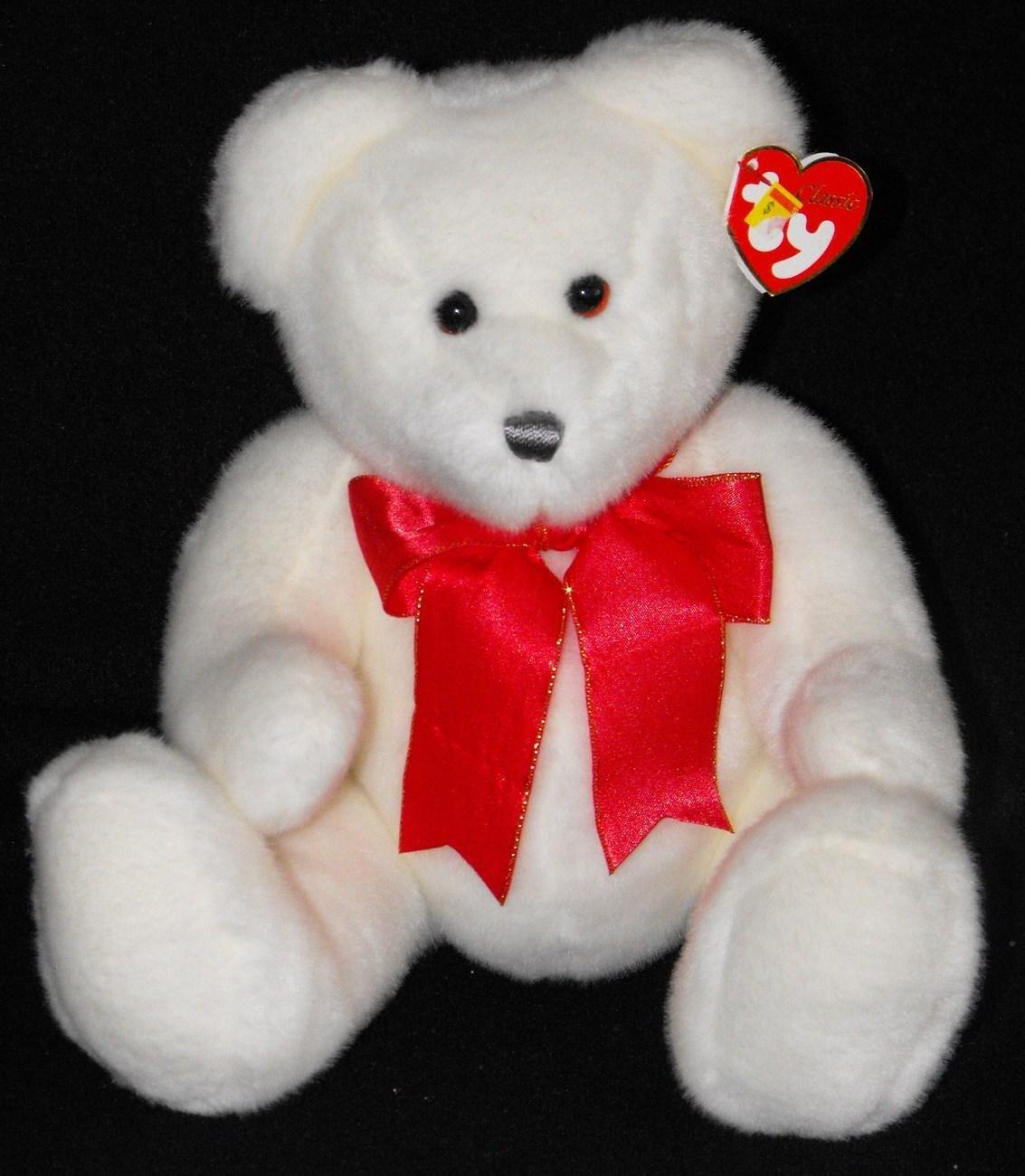 """*5/16*SOLD~  Ty Beanie Classic 15"""" Scrumptious White  Bear"""