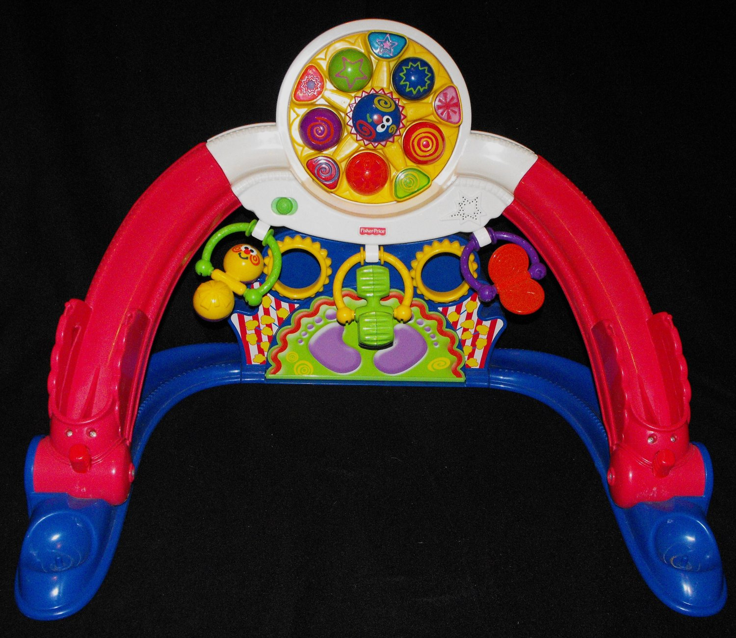 *SOLD~Awaiting Feedback~FISHER PRICE BABY PLAYZONE KICK AND WHIRL CARNIVAL GYM
