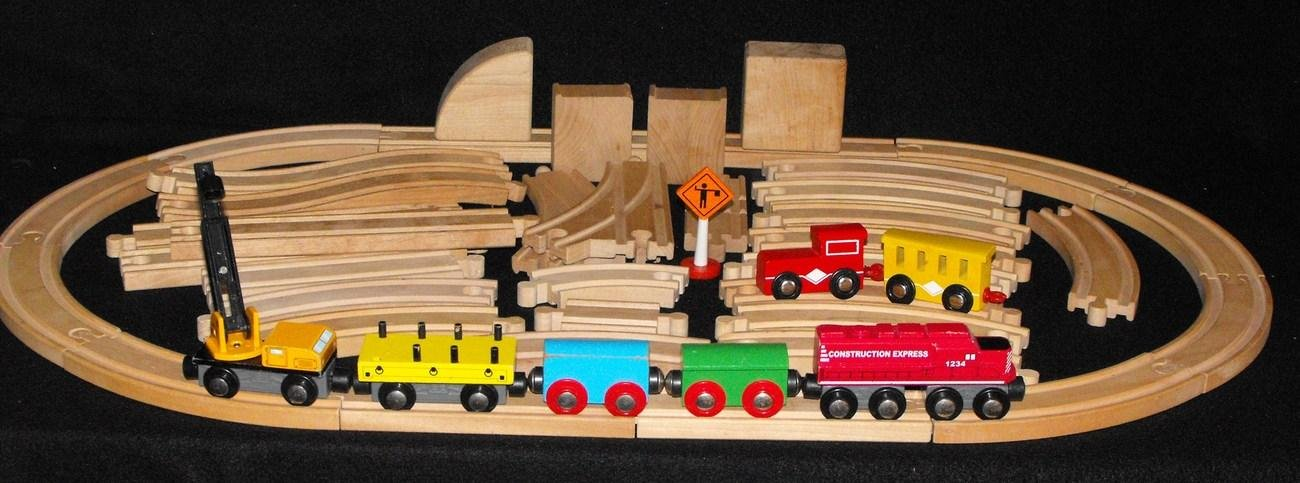 Brio Compatible Geoffrey Inc. Wooden Train set