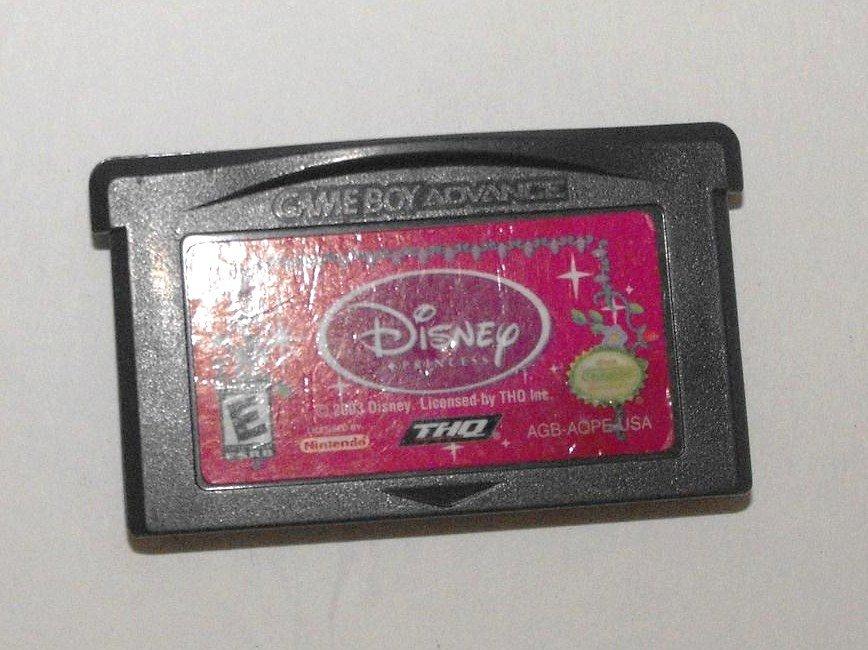 GAME BOY ADVANCE GBA DS DISNEY PRINCESSES GAME