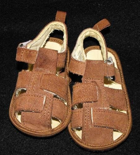 BABY BOYS SIZE 9-12 MONTHS CRIB SANDALS SUMMER SOFT SHOES