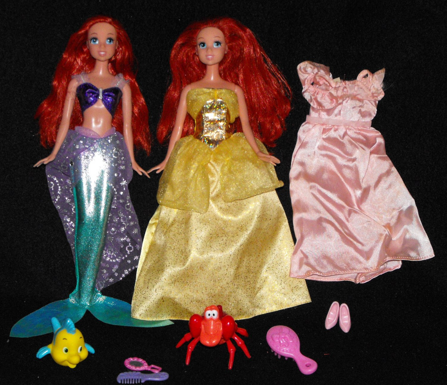 *SOLD~Awaiting Feedback~DISNEY LITTLE MERMAID ARIEL & FRIENDS MATTEL DOLL LOT