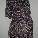 Liz Lange Pretty Maternity Blouse Purple Sheer Fabric Size XL