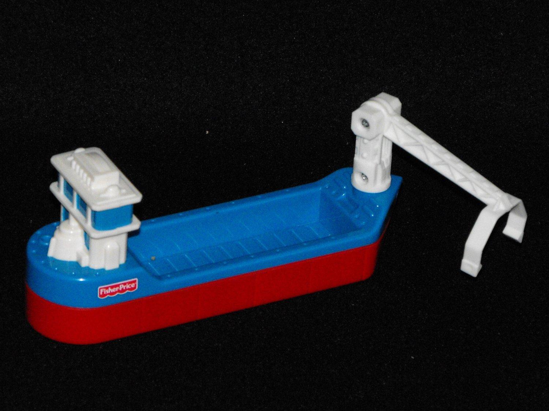 *1/15*SOLD~Fisher Price GeoTrax  Marina Bridge Barge Boat Ship Geo Trax