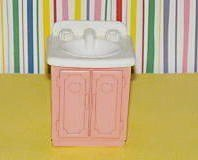 Fisher Price Loving Family Dream Dollhouse 1993 Bathroom Vanity