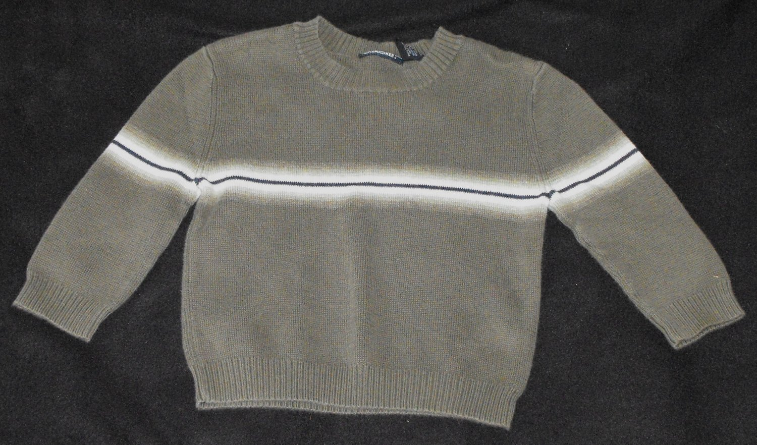 Cherokee Green Stripe Sweater Baby Boys 18-24 Months