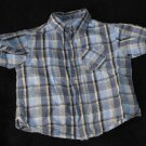 Arizona Jean Co. Baby Boys 18-24 Months Shortsleeve Plaid Button Up Shirt