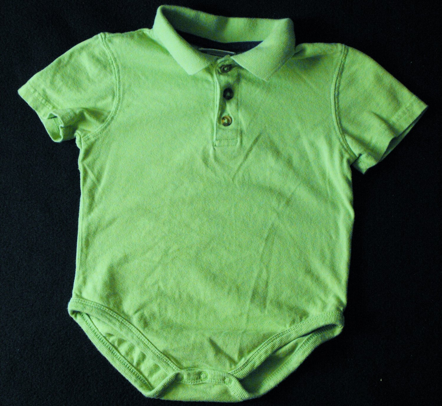 George Baby Bright Green Boys 18-24 Months Shortsleeve Onesie Polo Shirt