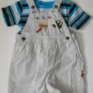 BT Kids Shortalls Faded Glory Bodysuit  Toddler Baby Boys 18 Months Shorts Outfit
