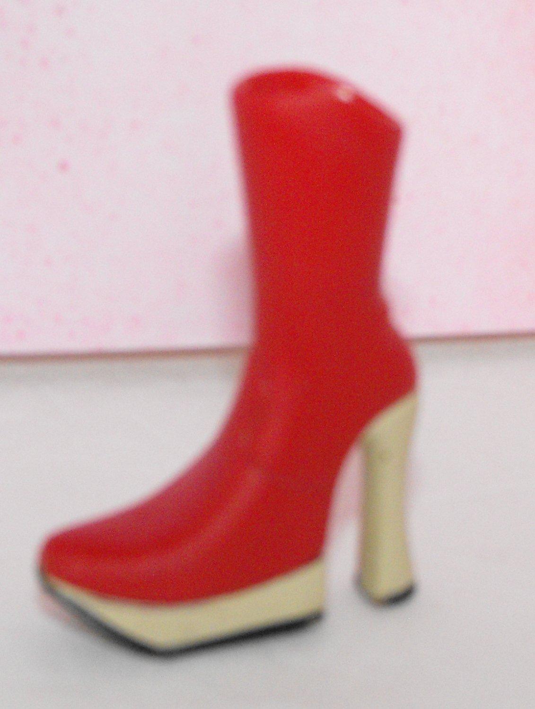 Bratz Punk n' Prep Red Boot Shoe Foot Part