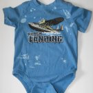 Cherokee Baby Boys 18-24 Months Airplane Shortsleeve Bodysuit Creeper Shirt