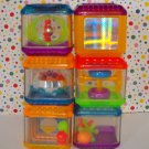 Fisher Price Peek A Blocks Sparkle Blocks Neon Sights and Sounds Sensory Block Set