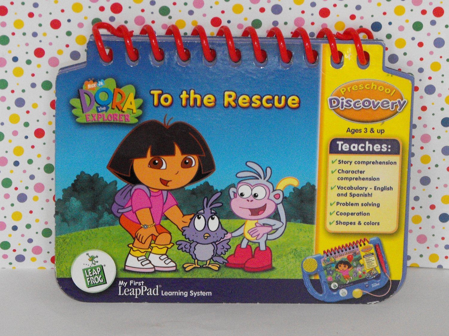 LEAPFROG MY FIRST LEAPPAD DORA THE EXPLORER BOOK ONLY
