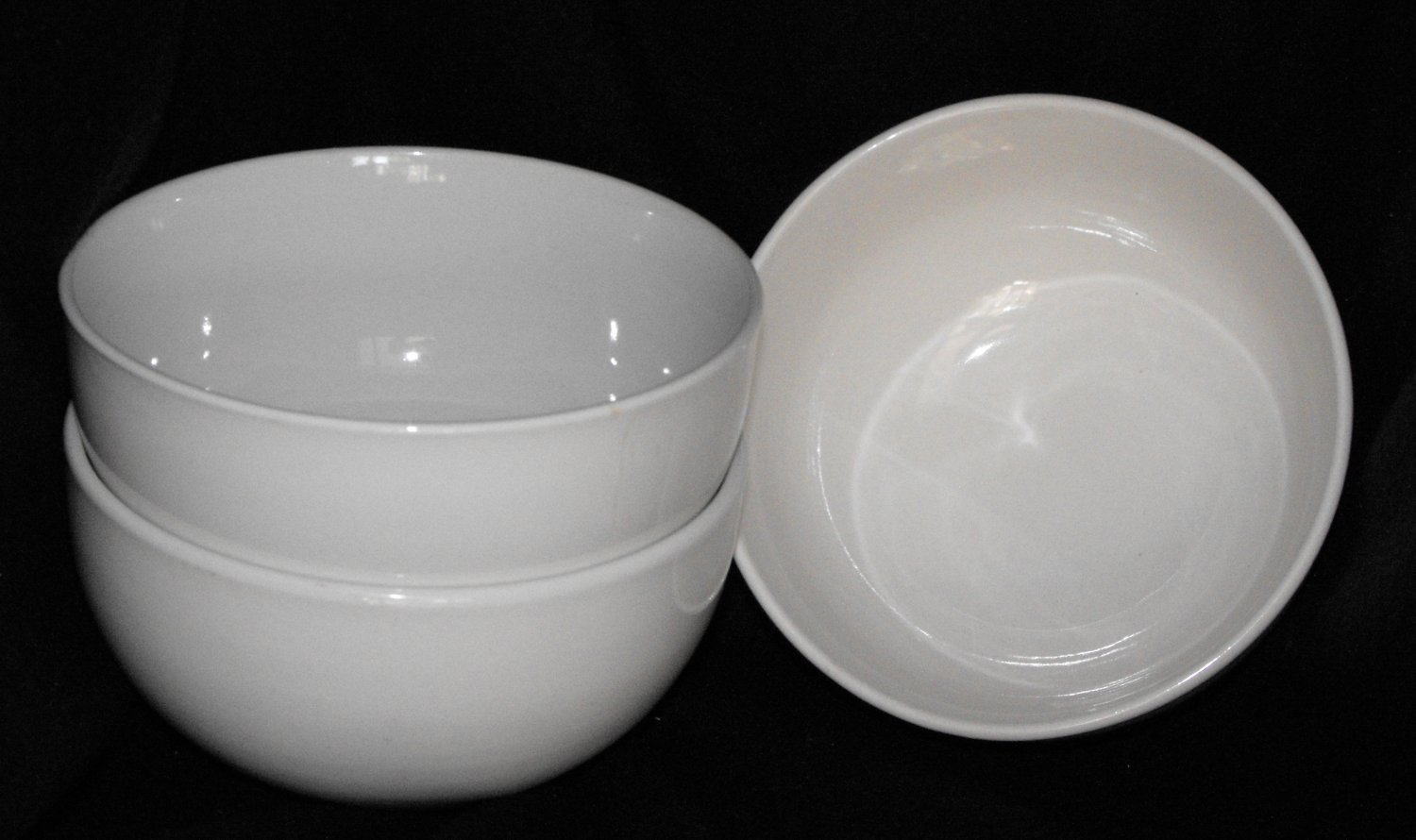 White Soup Cereal Rice Bowls Lot - Unmarked